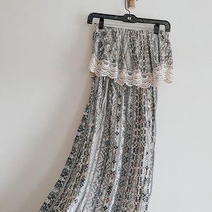 Maxi Dress Strapless Small Women's Forever 21